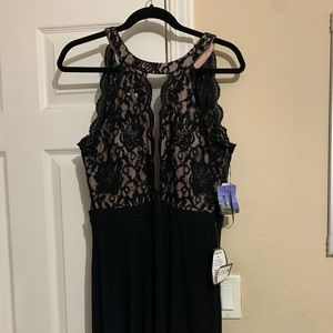 Never worn long black prom dress